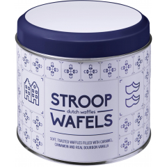 Stroopwafel blik | Hollands patroon