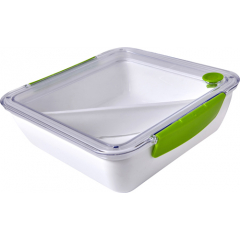 Broodtrommel | Lunchbox | 920ml | Incl vork | Siliconen